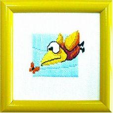 ГЛ-001 Птичка. Набор для вышивки гладью. ТМ Чаривна Мить