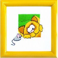 ГЛ-002 Кот и мышка. Набор для вышивки гладью. ТМ Чаривна Мить