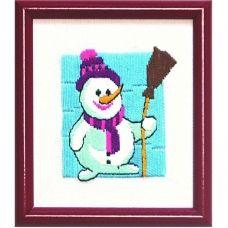 ГЛ-004 Снеговик. Набор для вышивки гладью. ТМ Чаривна Мить