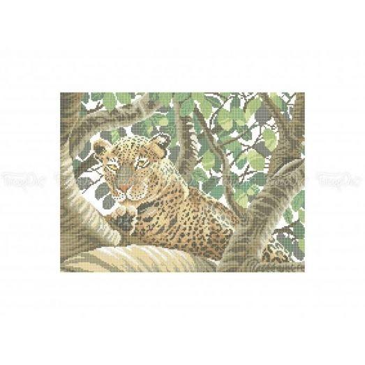50-325 (30*40) Леопард. Схема для вышивки бисером Бисерок
