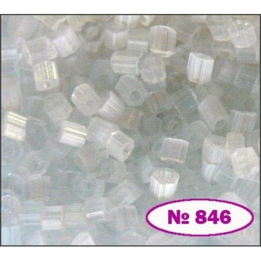 05051/ №849 (сатин) Прозрачный снежный Бисер Preciosa