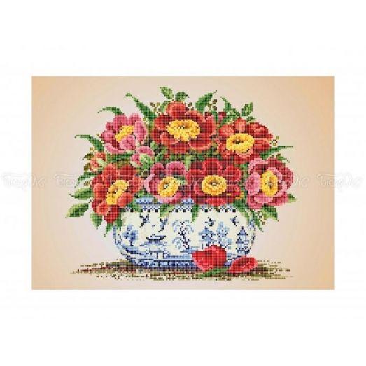 30-360 (30*40) Цветы. Схема для вышивки бисером. Бисерок