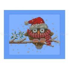 70-402 (20*25) Совушка зимой. Схема для вышивки бисером Бисерок