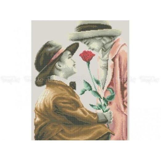40-223 (40*60) Первая любовь. Схема для вышивки бисером. Бисерок