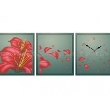 ЧВ-5189 (М-А3-036) Модульная картина Часы лилия. Схема для вышивки бисером. Бисерок