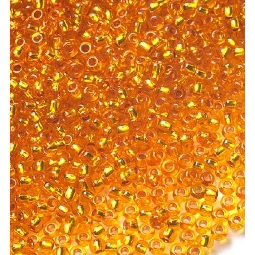 87060 / №308 Бисер оранжевй с серебрением