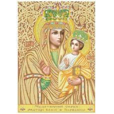 РПБ-002 Богородица Зарваницкая. Схема для вышивки бисером ТМ Княгиня Ольга