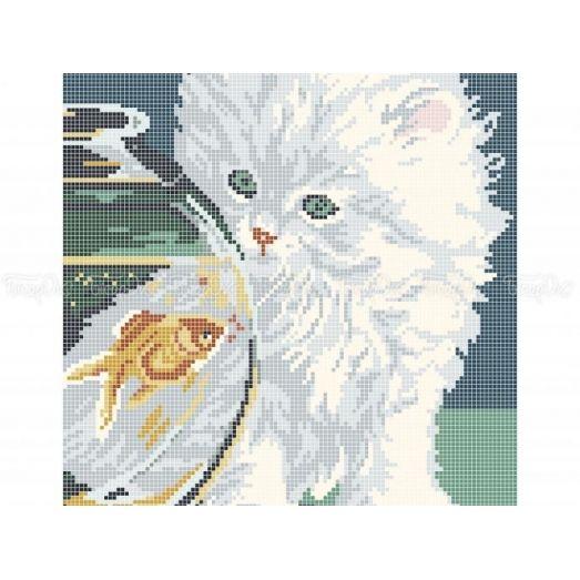 50-339 (30*40) Котенок. Схема для вышивки бисером Бисерок