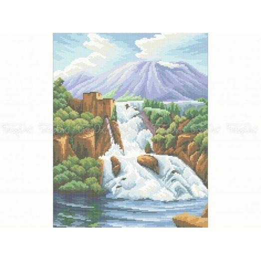 10-390 (30*40) Водопад. Схема для вышивки бисером. Бисерок