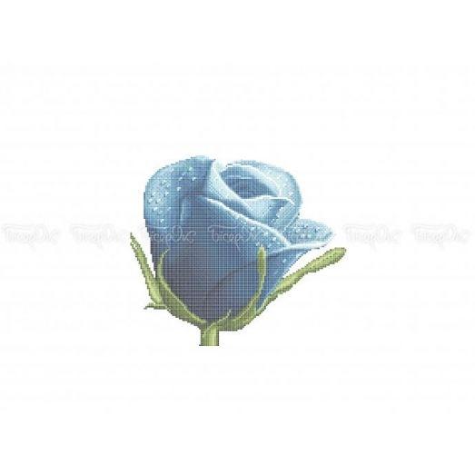30-336 (30*40) Холодная роза. Схема для вышивки бисером Бисерок