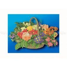 30-200 (40*60) Корзинка с цветами. Схема для вышивки бисером Бисерок