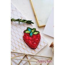 AD-050 Набор для вышивки бисером украшения Клубничка. ТМ Абрис Арт