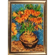 БФ-170 Цветы в медной вазе (по мотивам картины В. Ван Гога). Набор для вышивки бисером Батерфляй