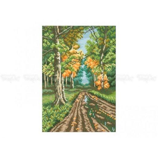 10-313 (30*40) Дорога в лесу. Схема для вышивки бисером Бисерок