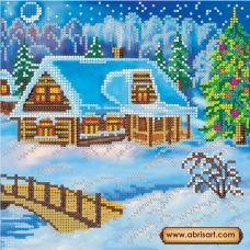 АС-004 Рождественский вечер. Схема для вышивки бисером на холсте. АбрисАрт