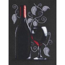 B2220 Бутылка с вином. Набор для вышивки нитками. Luca-s