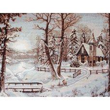 G321 Зимний пейзаж. Набор для вышивки нитками Luca-s