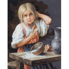 B515 Крестьянка. Набор для вышивки нитками. Luca-s