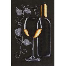 B2221 Бутылка с вином. Набор для вышивки нитками. Luca-s