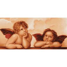 B319 Ангелочки. Набор для вышивки нитками. Luca-s