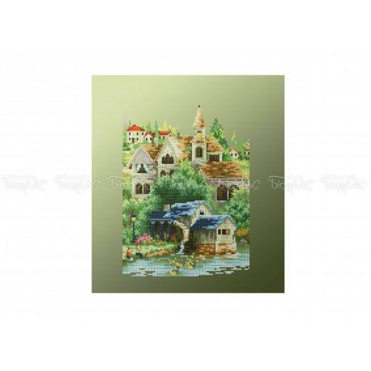 10-382 (30*40) Дом у воды. Схема для вышивки бисером Бисерок