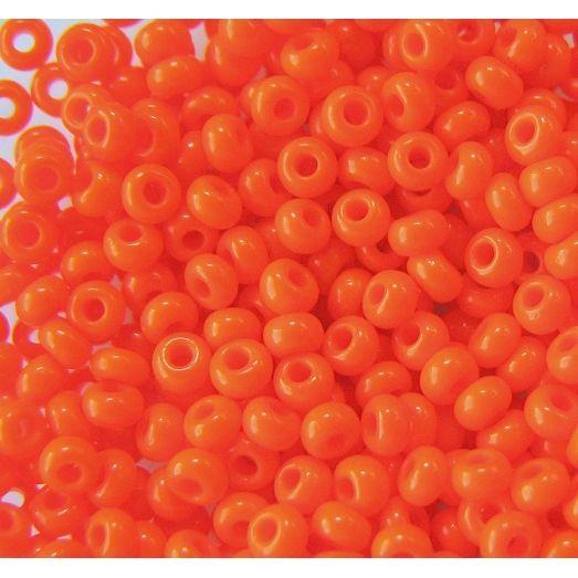 93140 Бисер насыщенно-оранжевый, натуральный