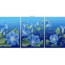ЧМ-А2-035 Триптих Вьюнок. Схема для вышивки бисером Бисерок