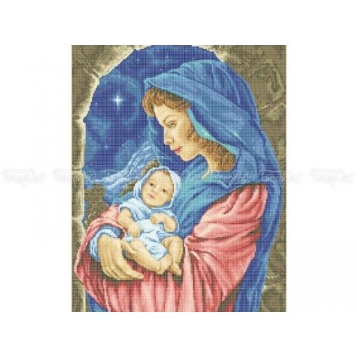 20-210 (40*60) Мадонна с младенцем. Схема для вышивки бисером Бисерок