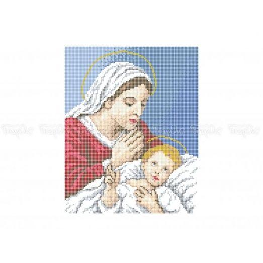 20-401 (20*25) Мадонна с младенцем. Схема для вышивки бисером Бисерок