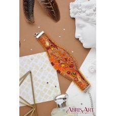 ADB-002 Набор для вышивки бисером украшение-браслет на натуральном художественном холсте Осеннее золото. ТМ Абрис Арт