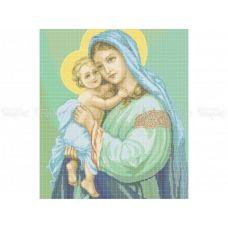 20-216 (40*60) Мария (зеленый фон). Схема для вышивки бисером Бисерок