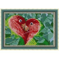 АП-096 Птицы любви. Схема для вышивки бисером. ТМ Фея Вышивки