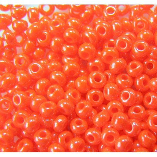 98140 Бисер непрозрачный, оранжевый, блестящий