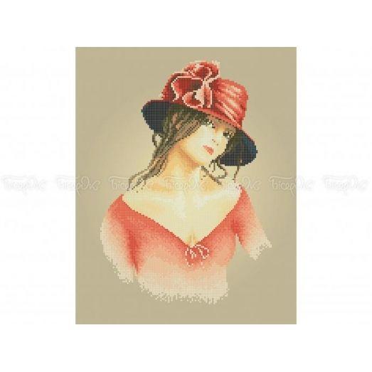 40-336 (30*40) Красная шляпка. Схема для вышивки бисером Бисерок