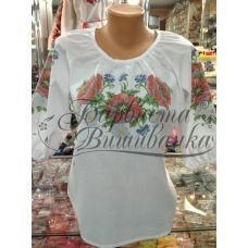 БЖд-001 (белая). Заготовка женской сорочки. Барвиста Вишиванка