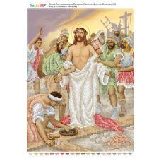 БСР-Стояние-10 (А3) Иисуса лишают одежды. Схема для вышивки бисером ТМ Сяйво