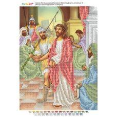 БСР-Стояние-01 (А3) Иисуса приговаривают к смерти. Схема для вышивки бисером ТМ Сяйво