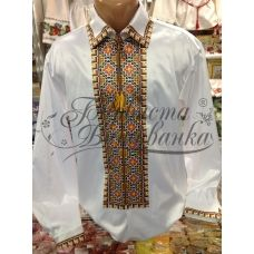 СЧ-011 Бисерная заготовка мужская сорочка. Барвиста Вишиванка