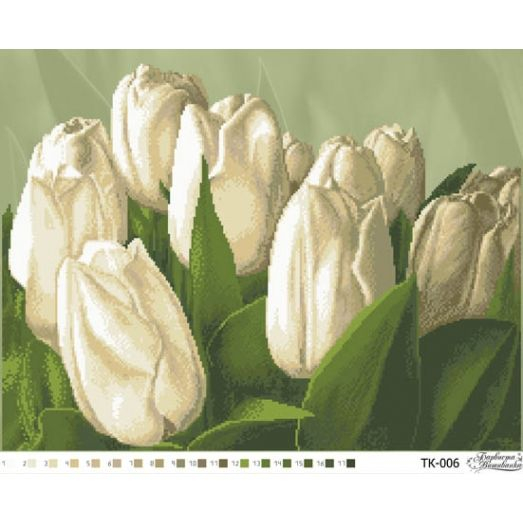 ТК-006 Тюльпаны. Схема для вышивки бисером. Барвиста Вишиванка