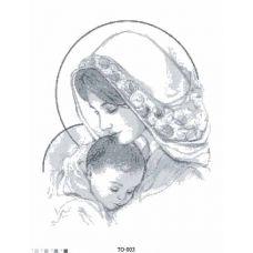 ТО-003 Дева Мария. Схема для вышивки бисером Барвиста Вишиванка