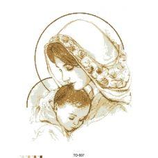 ТО-007 Дева Мария с ребенком. Схема для вышивки бисером Барвиста Вишиванка
