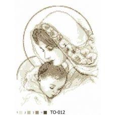 ТО-012 Мария с ребенком  (бежевая). Схема для вышивки бисером Барвиста Вишиванка