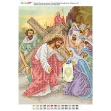 БСР-Стояние-06 (А3) Вероника вытирает лицо Иисуса. Схема для вышивки бисером ТМ Сяйво