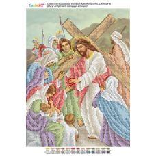 БСР-Стояние-08 (А3) Иисус встречает плачущих женщин. Схема для вышивки бисером ТМ Сяйво