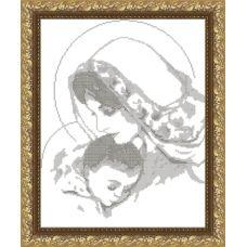 VKA-3004_B Дева Мария с младенцем. Схема для вышивки бисером. АртСоло
