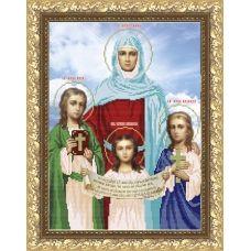 VIA-3001 Вера, Надежда, Любовь и мать их София. Схема для вышивки бисером. АртСоло