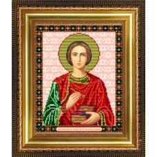 VIA-4068 Святой Великомученик Целитель Пантелеймон. Схема для вышивки бисером. АртСоло