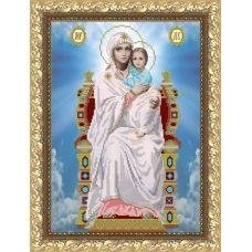 VIA-3005 Образ Пресвятой Богородицы на Престоле. Схема для вышивки бисером. АртСоло