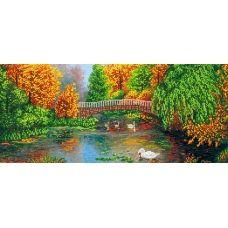 A-028 (25*55) Осенний лес. Схема для вышивки бисером СвитАрт