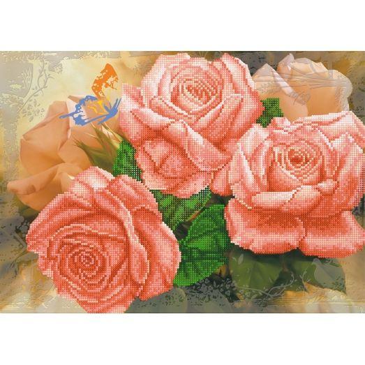A-032 (А3) Розы. Схема для вышивки бисером СвитАрт